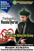 Peringatan Nuzulul Quran _25 Juni 2016
