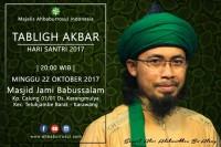 JADWAL TAKLIM AHBABURROSUL 22 OKTOBER 2017